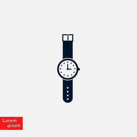wristwatch icon vector, flat design best vector icon