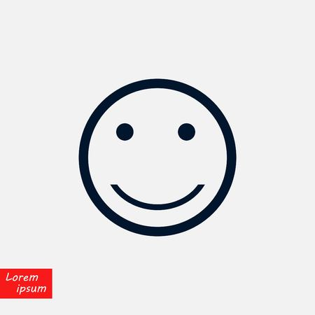 smiles icon vector, flat design illustration.