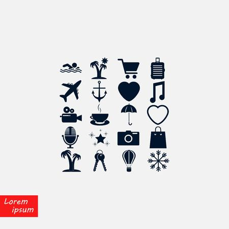 Travel Icons vector, flat design best vector icon  イラスト・ベクター素材