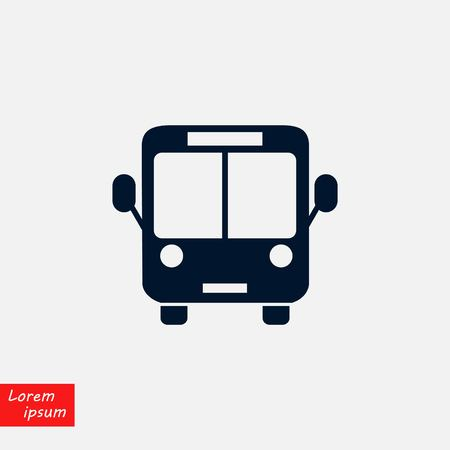 bus icon vector, flat design best vector icon