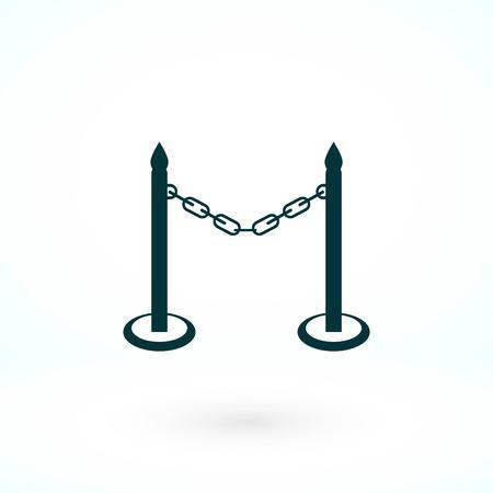 vecteur d'icône de barricade, icône de vecteur meilleur design plat