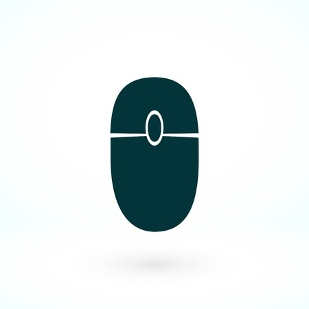 Computer mouse icon, flat design best vector icon Stockfoto - 100832307