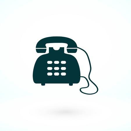 Phone icon vector, flat design best vector icon