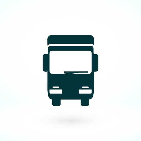 Truck sign icon, flat design best vector icon Vettoriali