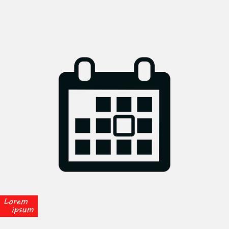 Calendar vector icon, flat design best vector icon