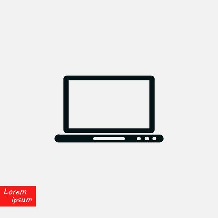monitor icon vector, flat design best vector icon Illustration