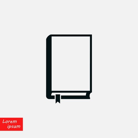 Book icons vector, flat design best vector icon