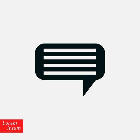 Dialog icon vector, flat design best vector icon Illustration