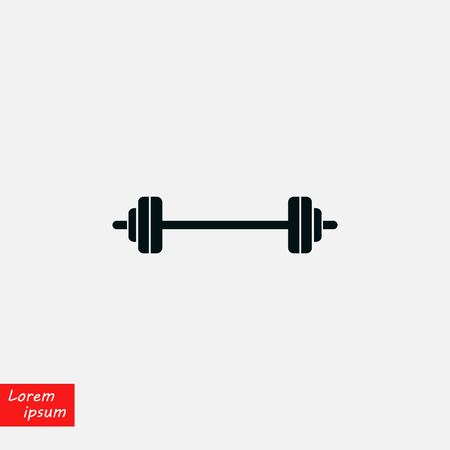 Barbell icon vector, flat design best vector icon Illustration