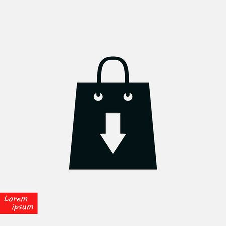 Download into the bag symbol Stock Illustratie
