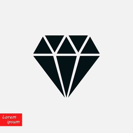 Diamond icon  flat design illustration. Reklamní fotografie - 100756424