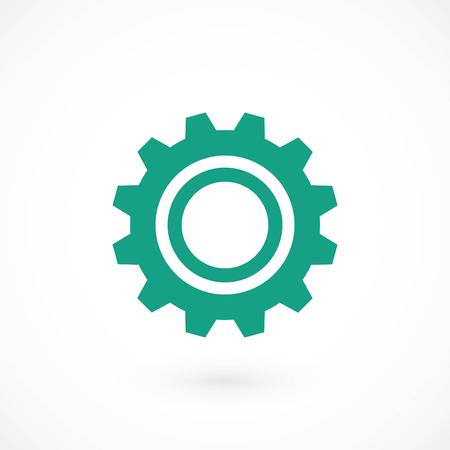gear vector icon, flat design best vector icon