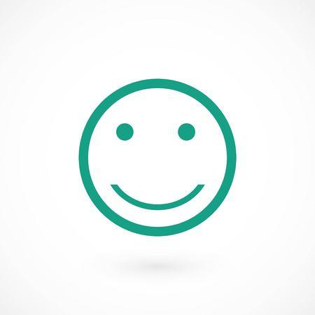 smiles icon vector, flat design best vector icon  イラスト・ベクター素材