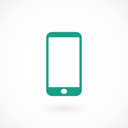 smart phone icon, flat design best vector icon