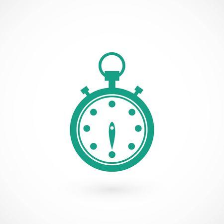 Stopwatch icon vector, flat design best vector icon Illustration