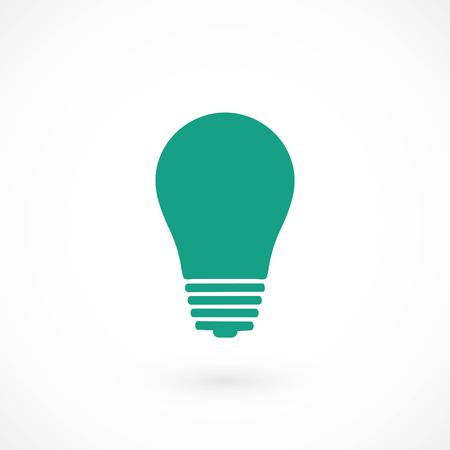 Light bulb icon, flat design best vector icon Illustration