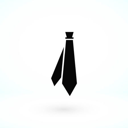 Tie icon vector, flat design best vector icon