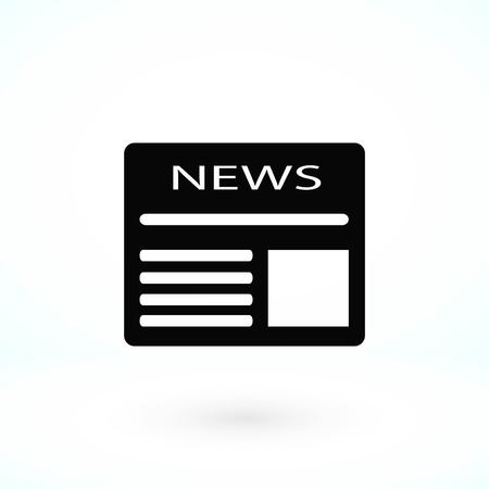 Flat icon of news, flat design best vector icon