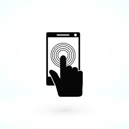 Smartphone icon vector, flat design best vector icon  イラスト・ベクター素材