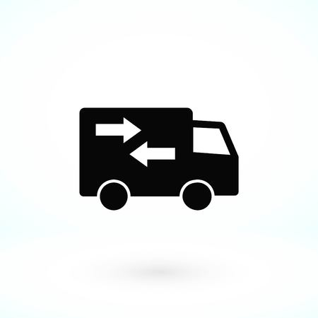 delivery vector icon, flat design best vector icon