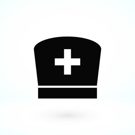 Flat Nurse icon, flat design best vector icon