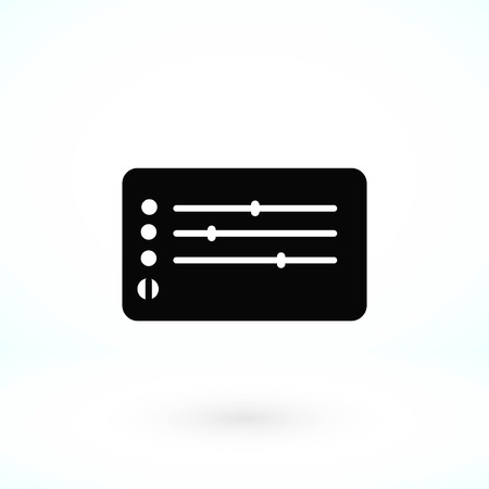 Media players icon, flat design best vector icon Иллюстрация