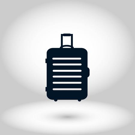 travel bag icon, flat design best vector icon Vectores