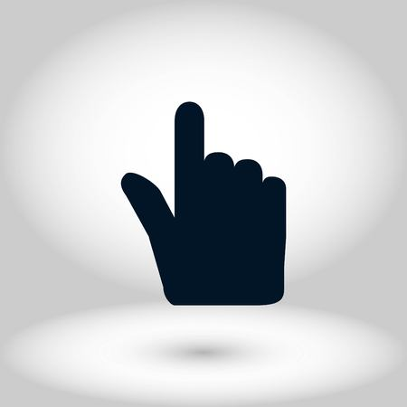 Hand cursor vector icon, flat design best vector icon Foto de archivo - 102593228