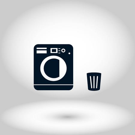 Laundry icons vector, flat design best vector icon  イラスト・ベクター素材