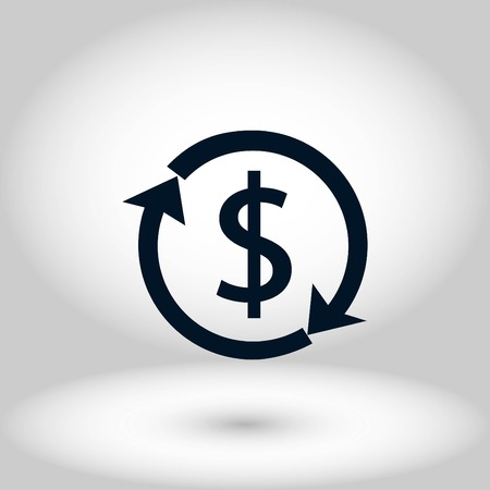 Dollars sign icon, flat design best vector icon