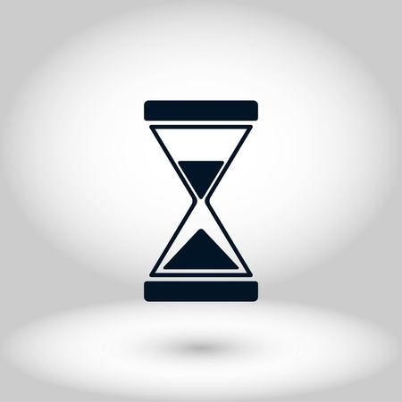 hourglass icon vector, flat design best vector icon