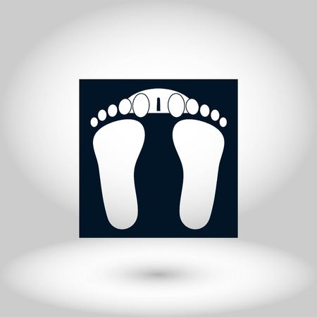footprints icon vector, flat design best vector icon