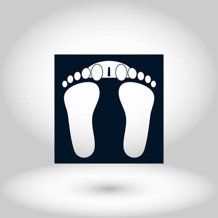 footprints icon vector, flat design best vector icon