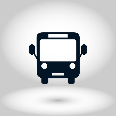Bus icon vector, flat design best vector icon Vectores