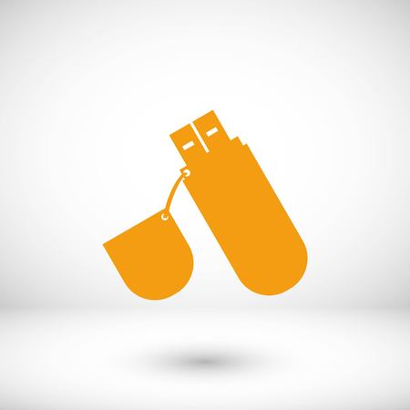 flash drive icon, flat design best vector icon