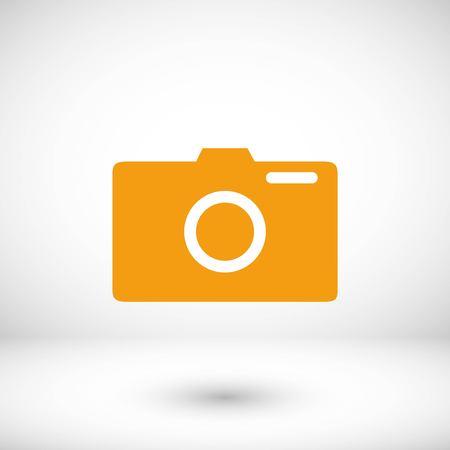 photo camera vector icon, flat design best vector icon Illustration