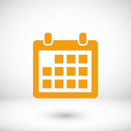 calendar icon vector, flat design best vector icon