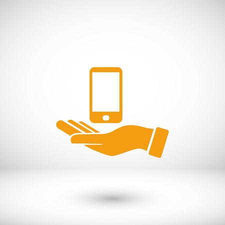 Capture Mobile icon, flat design best vector icon Illustration