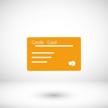 credit card vector icon, flat design best vector icon