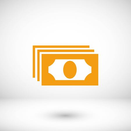 Dollars icon vector, flat design best vector icon Illustration