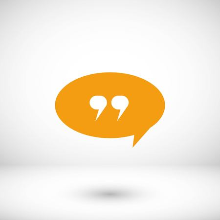 Quote icon vector, flat design best vector icon Stock Illustratie