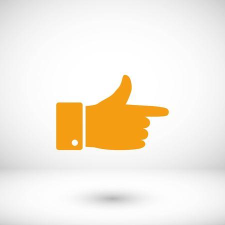 hand icon vector, flat design best vector icon Illustration