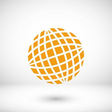Globe earth icon, flat design best vector icon
