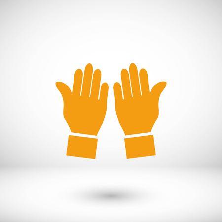 hand vector icon, flat design best vector icon