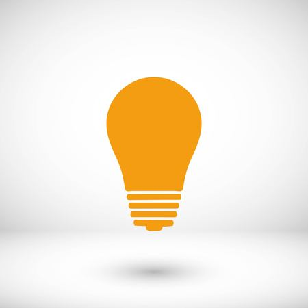 Light bulb icon, flat design best vector icon  イラスト・ベクター素材