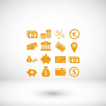 Finance Icons vector, flat design best vector icon 向量圖像