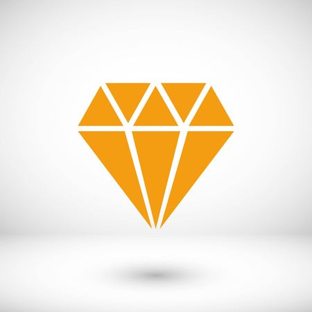 Diamond vector icon, flat design best vector icon