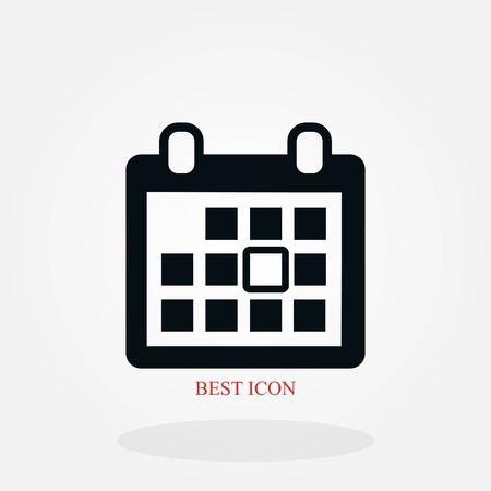 calendar vector icon, flat design best vector icon Stock Illustratie