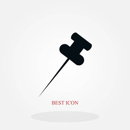 posh pin icon, flat design best vector icon