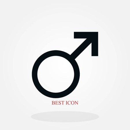 planet symbol icon, flat design best vector icon Illustration